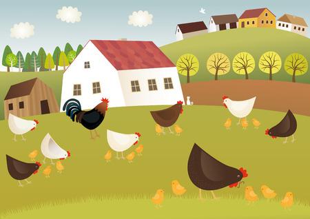 Fowls Bauernhof