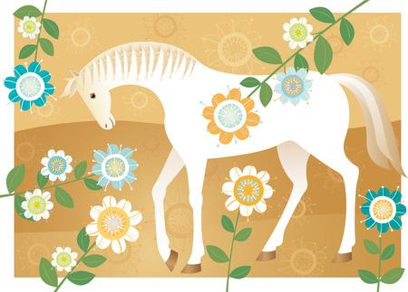 Pferd für die Braut Standard-Bild - 63802728
