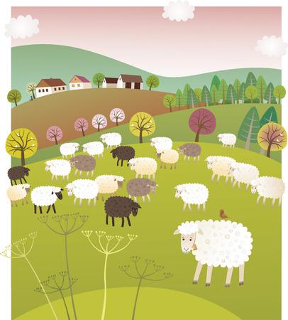 Frühlings-Schafe Standard-Bild - 63803621