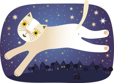 In die Nacht springen Standard-Bild - 71357038