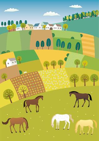 Landwirtschaft Landschaft Standard-Bild - 72411858