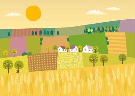 Landwirtschaft Landschaft. Standard-Bild - 72632598