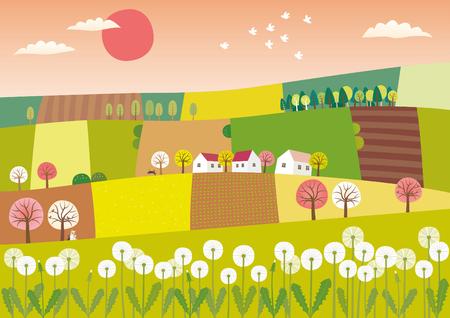 Frühling Landwirtschaft Landschaft Standard-Bild - 73453831