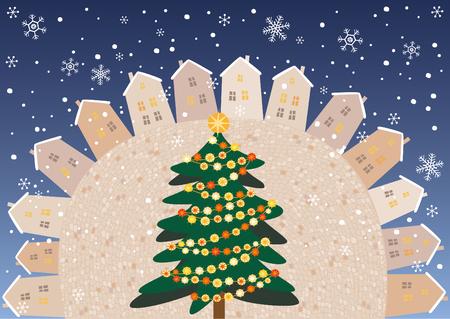 Christmas square  イラスト・ベクター素材
