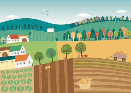 Harvest Time illustration