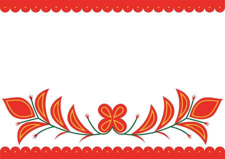 Vector image of folk embroidery from Spisska Nova Ves area Vectores