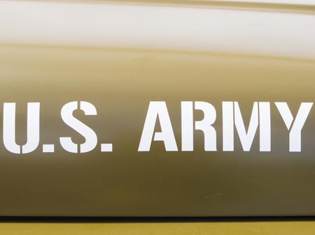 u s a: Marking on old U. S. Army staff car