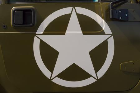 us army: US Army symbol on a staff car