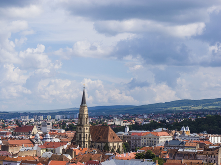 Cityscape of Cluj-Napoca, Transylvania, Romania Stock Photo