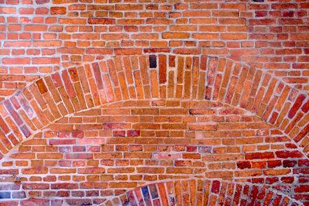 vintage natural brick wall with a lot of ancient patina Reklamní fotografie