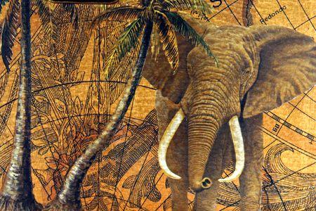 mapa de africa: La antigua explorators mapas, utilizado para descubrir los lugares remotos en la tierra