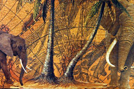 cartina africa: L'antica explorators mappe, utilizzato per scoprire i luoghi pi� remoti della terra Archivio Fotografico