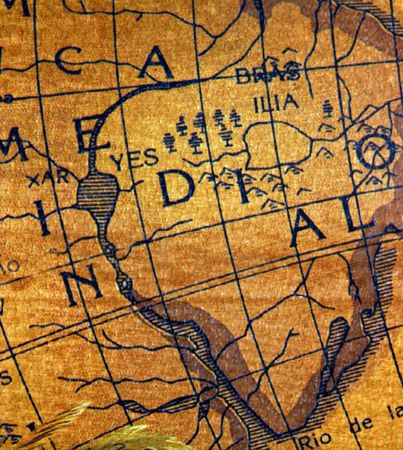 The ancient explorators maps, used to discover the remote places in the earth