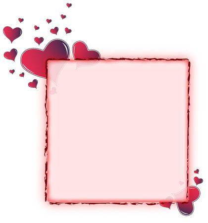 Valentine card. Ideal frame for valentines day portrait Standard-Bild