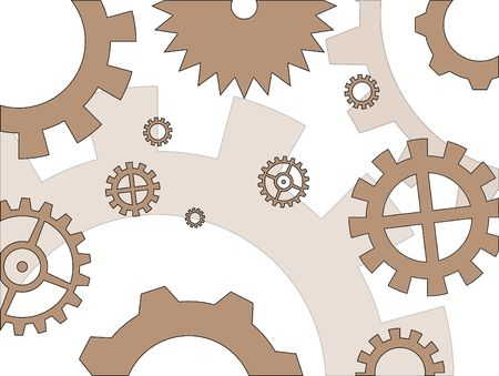 gearings: Gears of several types and dimensions, in a industry related composition