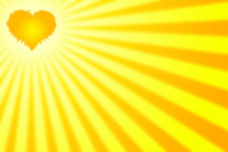 brings: Ideal background for valentines day celebration. The sun is a heart that brings warm rays