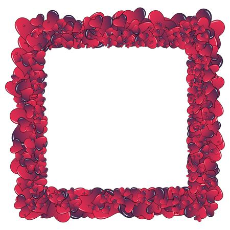 quantity: Valentine card. Ideal hearts frame for valentines day portrait. Stock Photo
