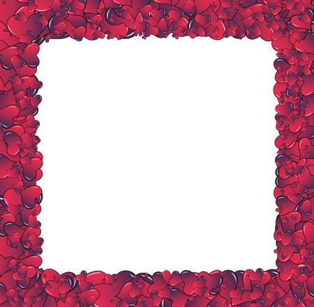 Valentine card. Ideal hearts frame for valentines day portrait. Stock Photo