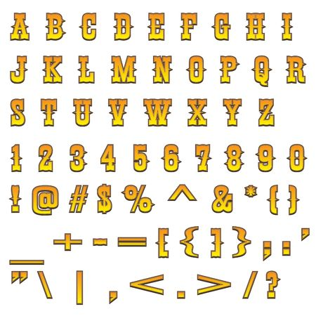 Typical carved wood western alphabet Stock Photo - 2678061