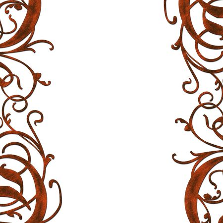 Abstract curly medieval decoration