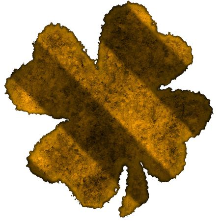 Burnt parchment with the shape of the typical Saint Patrick's day celebration clovers Stock Photo - 2806513