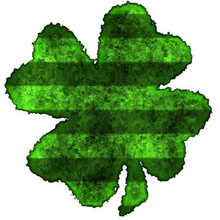 fourleaved: Burnt parchment with the shape of the typical Saint Patricks day celebration clovers Stock Photo