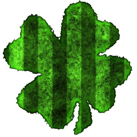 Burnt parchment with the shape of the typical Saint Patrick's day celebration clovers Stock Photo - 2806539
