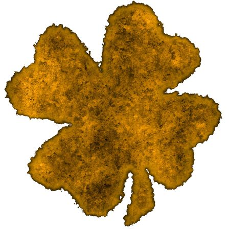 Burnt parchment with the shape of the typical Saint Patrick's day celebration clovers Stock Photo - 2806546