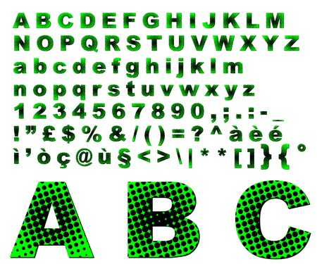 Complete colorful dots alphabet Stock Photo - 3039899