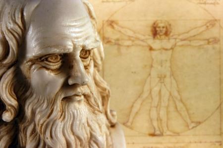 uomo vitruviano: Leonardo Da Vinci, uno dei pi� grandi mente nell'umanit� Archivio Fotografico