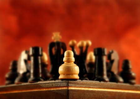 unskilled: A little pawn is alone in the corner against everybody