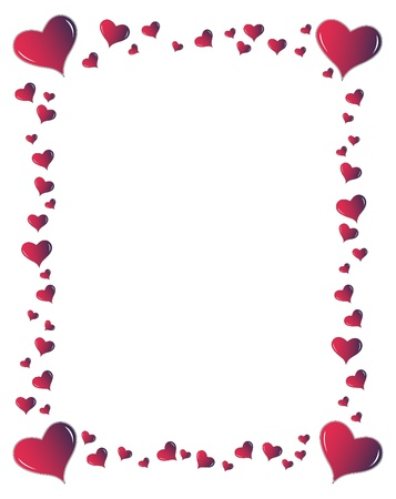 Ideal frame for a valentines portrait