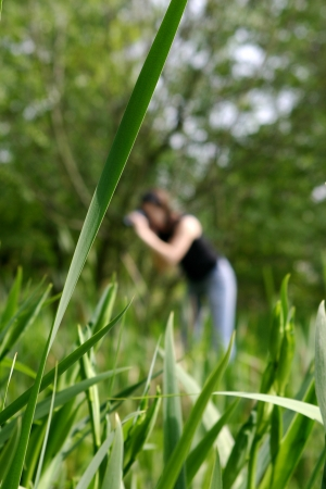 Young woman during a naturalist shooting session Stock Photo - 16921597