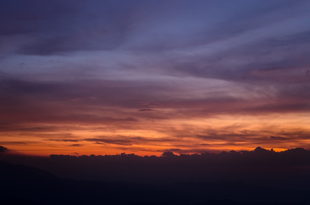 dramatic sky: Colorful dramatic sky with cloud at sunset. Natural composition
