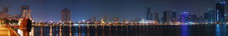 Night Panorama of Sharjah