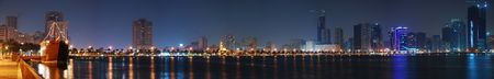 Night Panorama of Sharjah