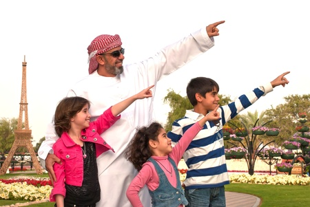 Arab family outdoor