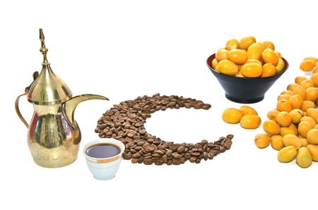 arabic coffee with date fruit