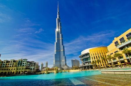 tallest: DUBAI, UAE - JANUARY 4: Burj Khalifa, worlds tallest tower, Downtown Burj Dubai January 4, 2012 in Dubai, United Arab Emirates.
