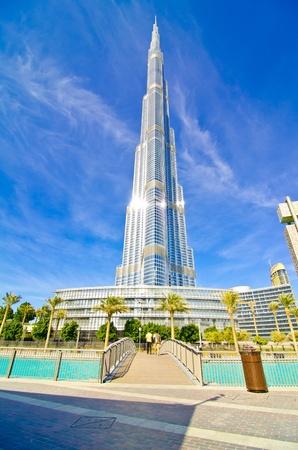 DUBAI, UAE - JANUARY 4: Burj Khalifa, worlds tallest tower, Downtown Burj Dubai January 4, 2012 in Dubai, United Arab Emirates.