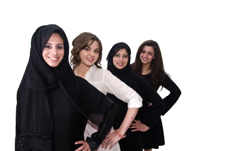 arab girl: Arab Females Stock Photo