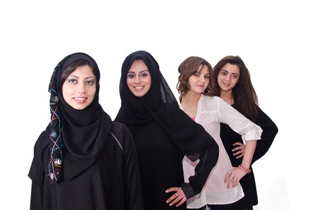 Arab Females Stock Photo