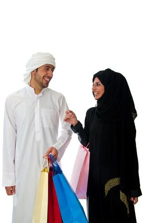 hombre arabe: Pareja �rabe Foto de archivo