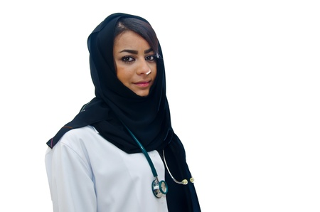 Arab Female Doctor Stock Photo - 13444652
