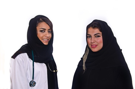 Arab female doctor with Arab female Patient photo