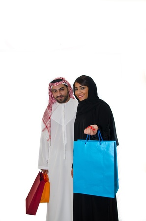 Arab couples shopping photo