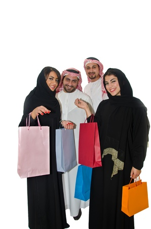 Arab couples shopping photo