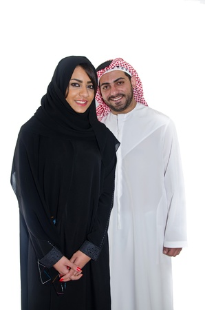 femmes muslim: Couple arabe Banque d'images