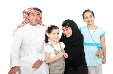 homme arabe: Arabe de la famille Banque d'images