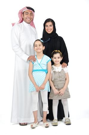 hombre arabe: Familia árabe